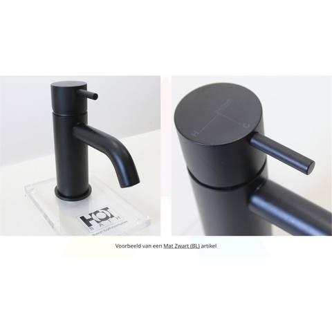 Hotbath Cobber CB003HS wastafelkraan hoog mat zwart