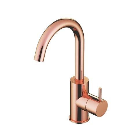 Hotbath Cobber CB004 wastafelkraan met draaibare uitloop roze goud