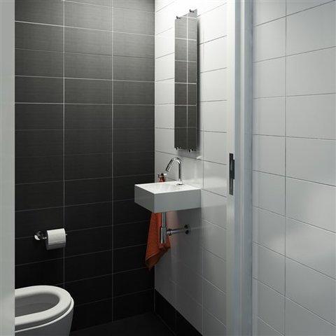 Clou Flat toilet accessoires set mat-zwart