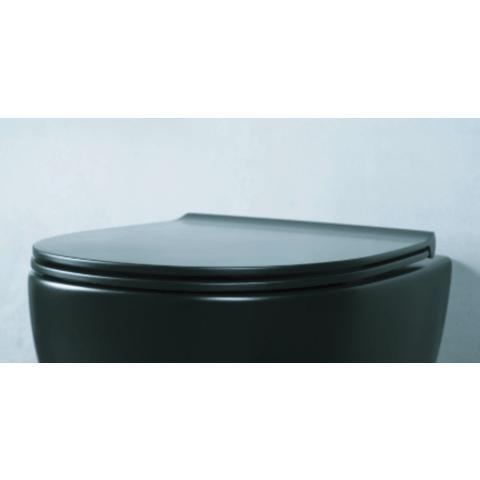 Globo 4ALL toiletzitting met Softclose mat zwart