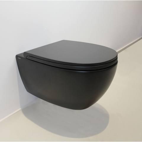 Globo 4ALL hangtoilet Rimless mat zwart - met Softclose zitting