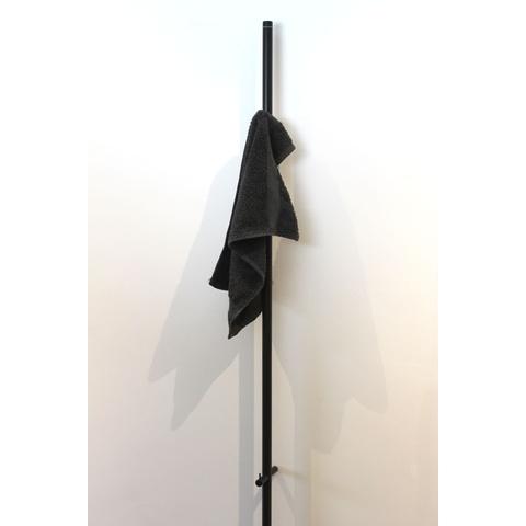 Instamat Jay elektrische handdoekdroger 172 cm mat zwart