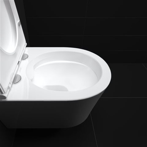 Clou InBe 1 wandtoilet Rimless verkort met toiletzitting Softclose & Quickrelease