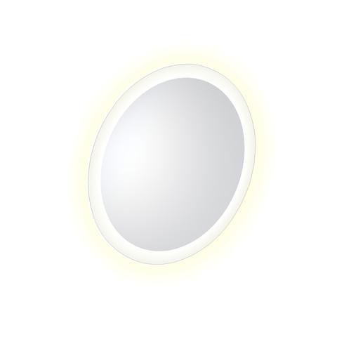 Clou Look at Me spiegel met 2700K LED-verlichting met satijnrand  40x4x40 (bxdxh)