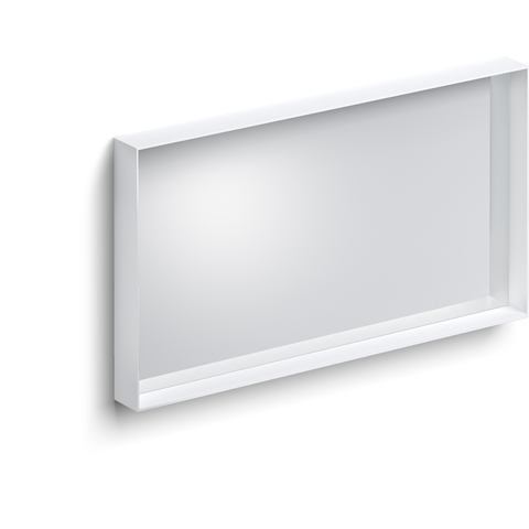 Clou Look at Me spiegel met een omlijsting in mat wit 90x8x50 (bxdxh)