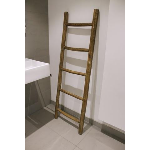 Bewonen Teun badkamer decoratie ladder rustiek 150cm
