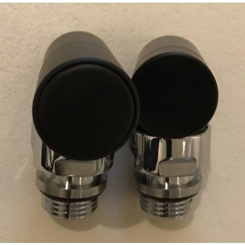 """Instamat Cylinder aansluitset 1/2"""" haaks mat-zwart"""