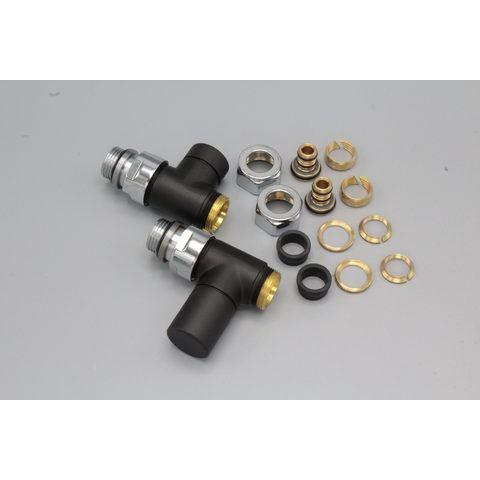 "Instamat Cylinder aansluitset 1/2"" - recht - mat zwart"