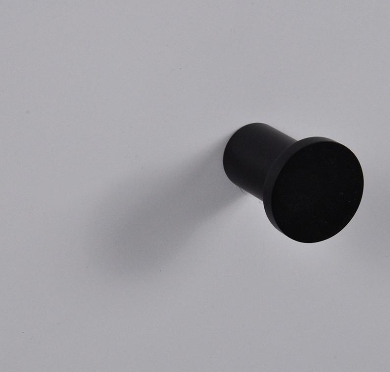 Wiesbaden Ida handdoekhaak mat-zwart