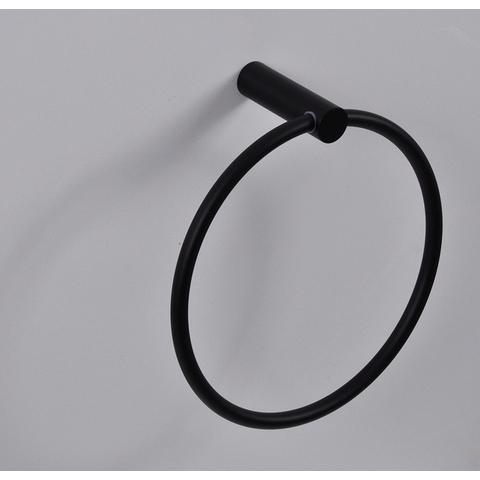 Wiesbaden Ida handdoekring mat-zwart