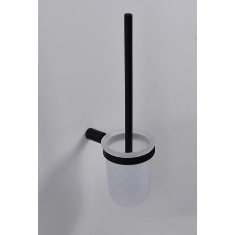 Wiesbaden Ida toiletborstelhouder wand mat-zwart