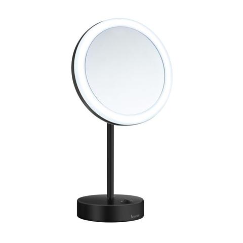 Smedbo Outline FK484EB LED make-up spiegel vrijstaand zwart