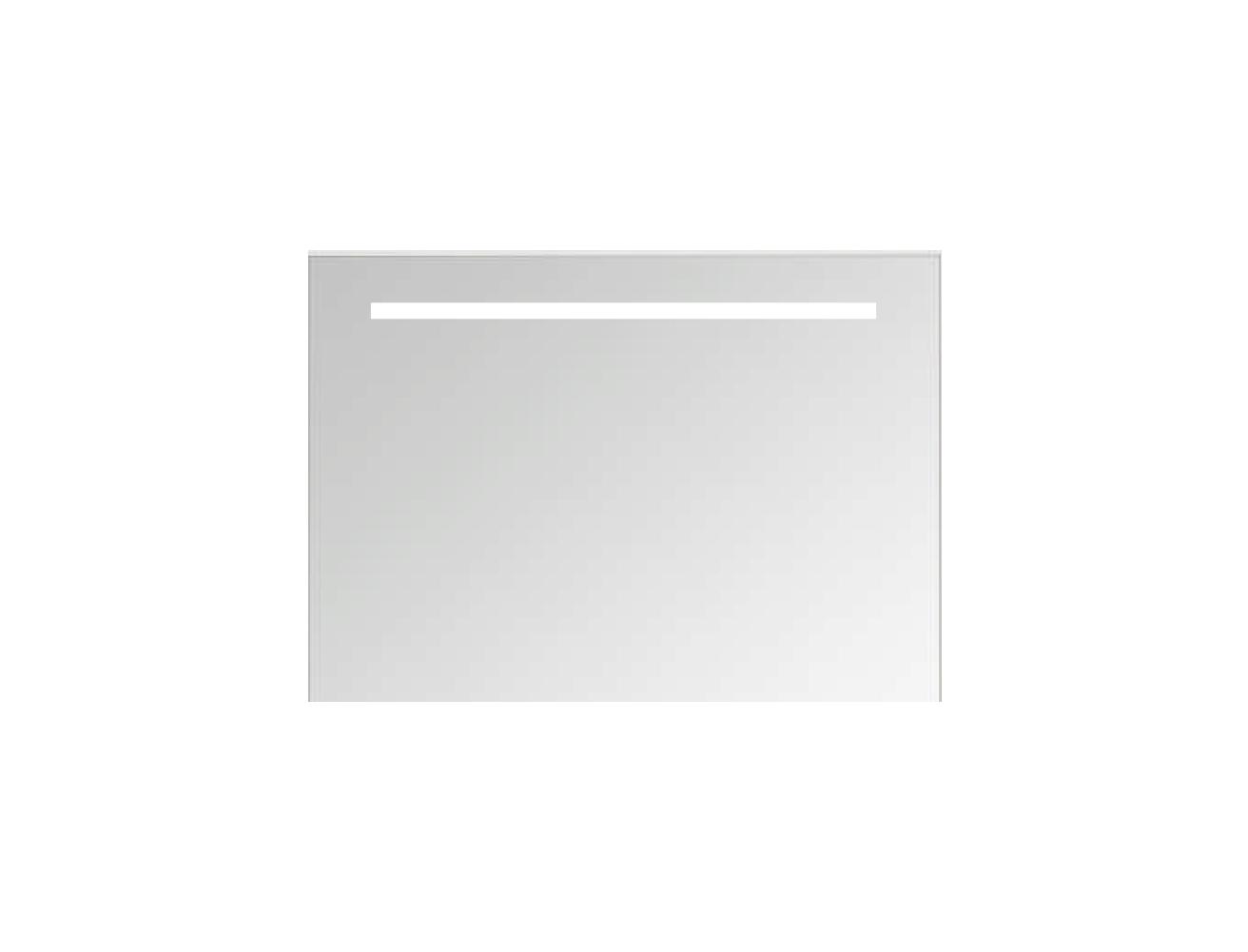 Basic spiegel op alu frame met geintegreerde led verlichting - 800x30mm (bxd)
