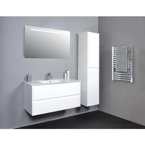 Basic Line spiegel op alu frame met geintegreerde led verlichting - 1200x30mm (bxd)