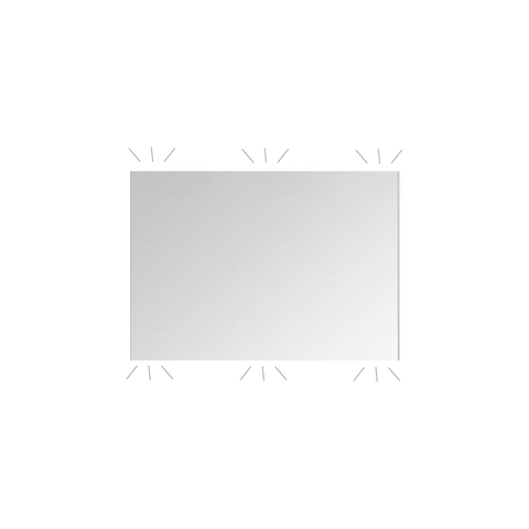 Basic Line Ultimate spiegel 60x60cm met indirecte LED verlichting boven & onder
