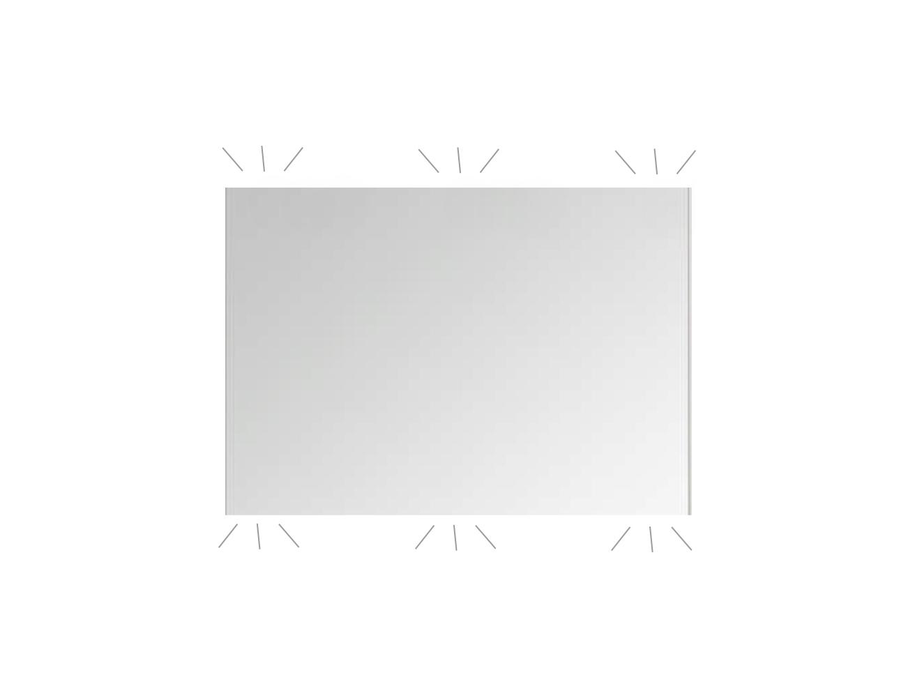 Blinq Ace spiegel ultimate 60x60cm op aluminium frame