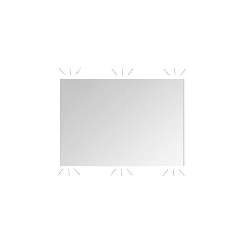 Blinq Ace spiegel ultimate 120x60cm op aluminium frame