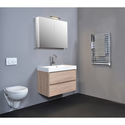 Blinq Ace spiegelkast comfort 80cm - hoogglans wit
