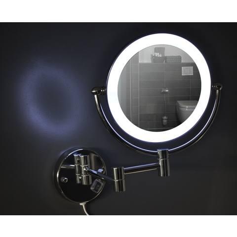 Wiesbaden Home staande scheerspiegel LED verlichting chroom