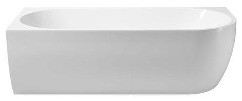 Wiesbaden Corner halfvrijstaand bad 180x80cm - links - wit