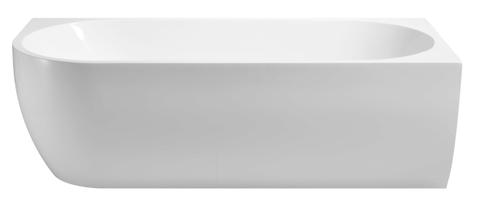 Wiesbaden Corner halfvrijstaand bad 180x80cm - rechts - wit