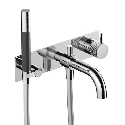 Hotbath Cobber X CX026 inbouw badkraan, automatische omstelinrichting geborsteld nikkel
