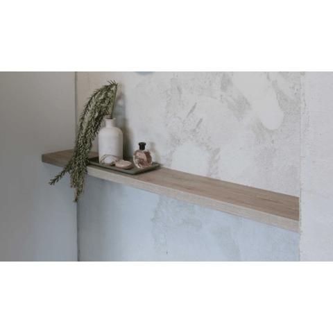 Ink wandplank 40x35cm voor ophanging in nis - dikte 3,5cm