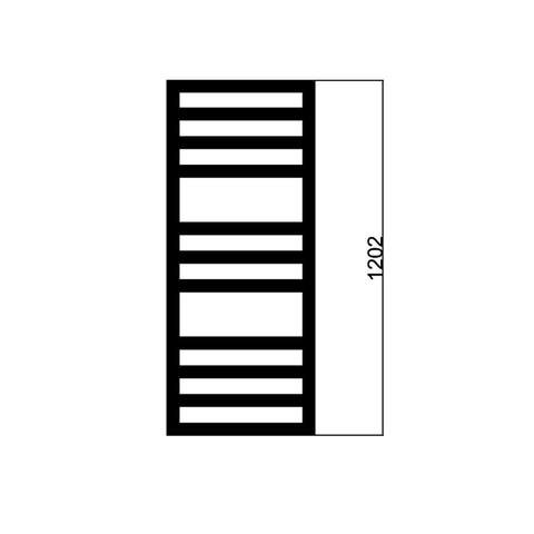 Das Square Space handdoekradiator 120x60cm (HxB) - 710W - Wit