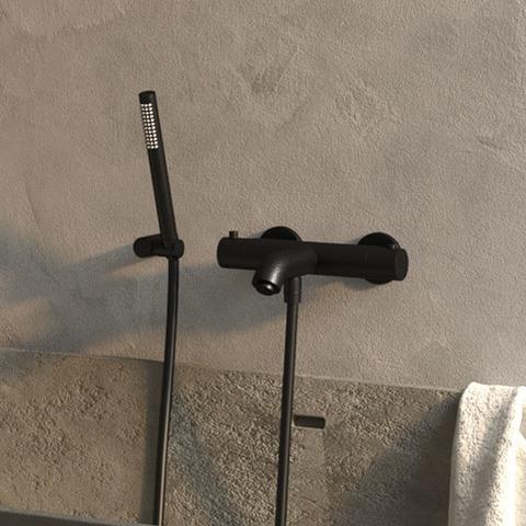 Brauer Black Edition badset - staafhanddouche - mat zwart