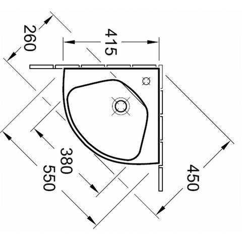 Villeroy & boch O.novo Compact hoekfontein 41,5cm
