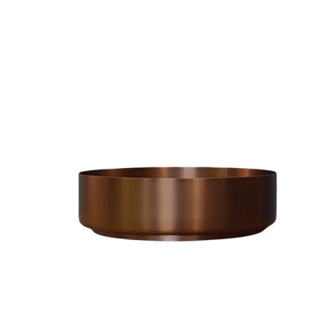 Bewonen Steel opzetwastafel 40cm - Brons