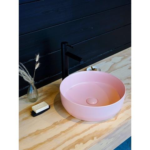 Bewonen Colour Line opzetwastafel 39cm - pastel roze