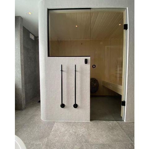 Instamat Jay elektrische handdoekdroger 85 cm mat zwart
