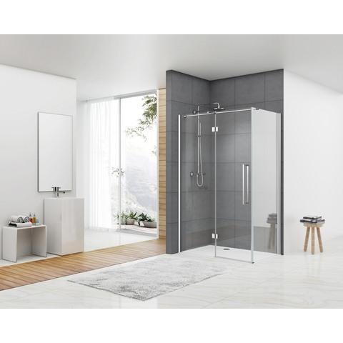 Van Rijn Products douchecabine zij-instap 90x100cm chroom