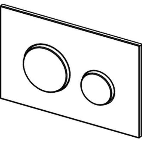 Tece Loop bedieningsplaat glans-wit