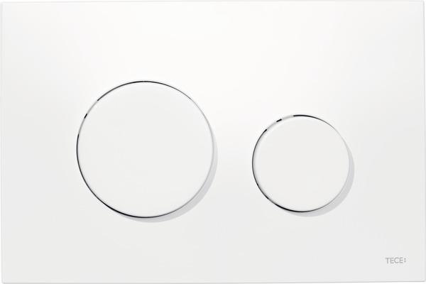 Tece Loop bedieningsplaat glans-wit antibacterieel