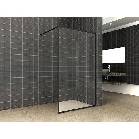 Wiesbaden Square inloopdouche 10mm NANO 100 x 200 cm mat-zwart