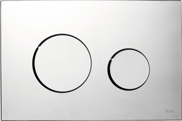 Tece Loop bedieningsplaat glanzend chroom