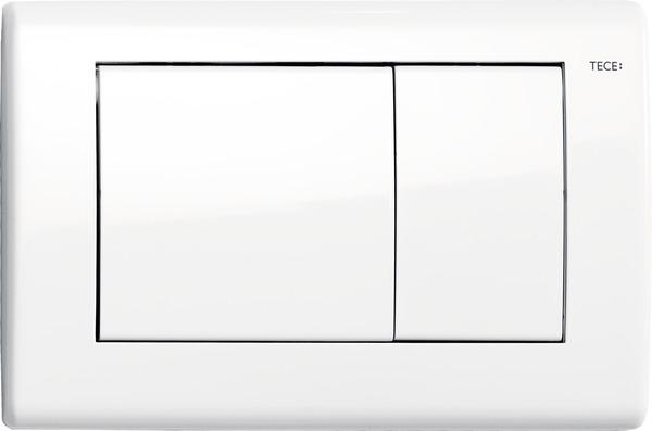 Tece Planus dubbel bedieningsplaat wit glanzend