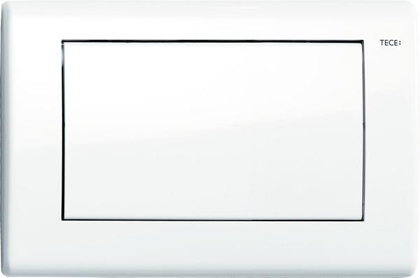 Tece Planus enkel bedieningsplaat wit glanzend