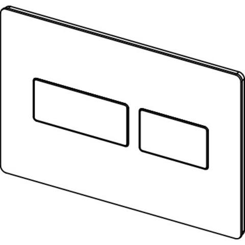 Tece Solid bedieningsplaat glanzend wit