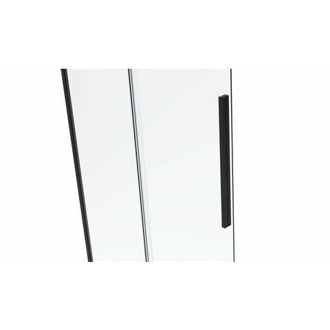 Van Rijn Products ST06300 Nisdeur met vast deel 160 x 200cm helder glas chroom