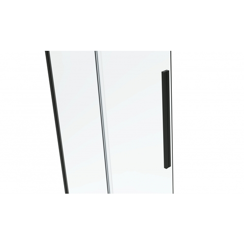 Van Rijn Products ST06300 Nisdeur met vast deel 160 x 200cm helder glas zwart