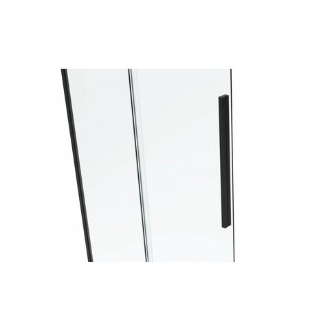 Bewonen Wilco ST06300 Nisdeur met vast deel 180 x 2000cm helder glas zwart