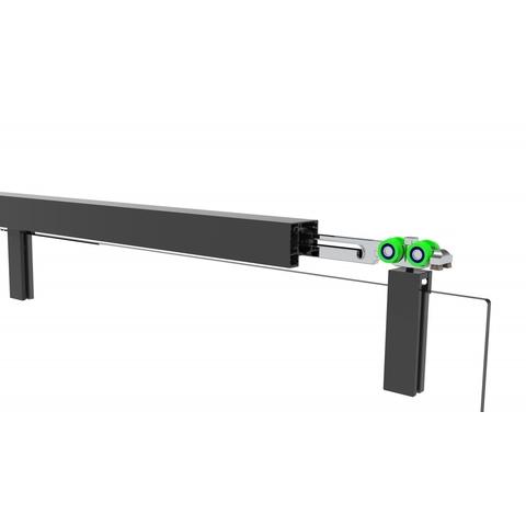 Van Rijn Products ST06300 nisdeur met vast deel 180 x 200cm rookglas zwart