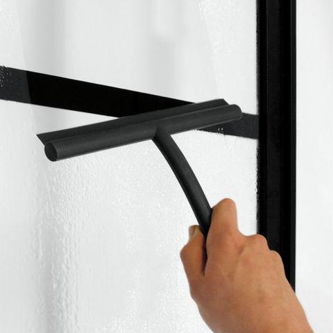 Sealskin Soho schuifdeur voor nis links 140cm mat zwart