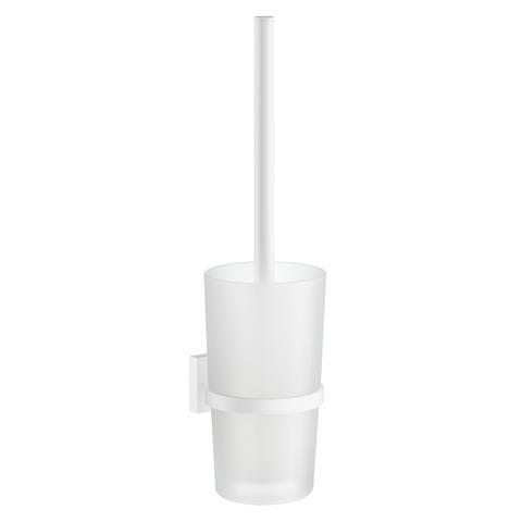 Smedbo House toiletborstelhouder matglas mat wit