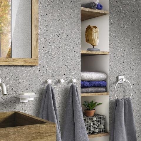 Smedbo House handdoekring mat wit
