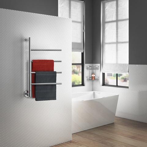 Smedbo Dry elektrische handdoekradiator met 4 draaibare armen 77,7cm Fk717 gepolijst RVS