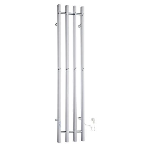 Smedbo Dry elektrische handdoekradiator 150cm FK714 RVS glanzend